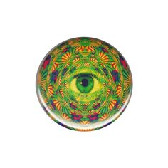 Psychedelic Eye Button Badge Pin Punk by AlienAndEarthling on Etsy