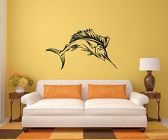 Giant Marlin fishing wall decal by jennibythesea on Etsy