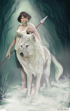 """Princess Mononoke"" - Princess Mononoke fan art by *JowieL"