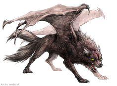 Demon Winged Wolf Photo by Sara_Shadow   Photobucket