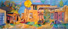 """CURRENT EXHIBITION in the Fechin Studio: Taos Paints Taos: Charles Stewart's """"Portraits"""" of Homes and Studios of Taos Artists March 22- June 28, 2015"""