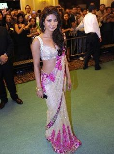 Priyanka Chopra Style Saree | More collection of Celebrity Saree Collection @ www.prafful.com
