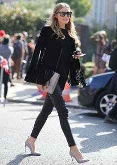Está na dúvida do que usar e quer montar um look fácil, elegante e moderno?! Aposte no look todo preto!! O preto, além de afinar a silhueta, ele é elegante e pode montar produções super diferentes, modernas e poderosas! Como vocês sabem, sou fã da Olivia Palermo e ela é uma ótima referência para looks …