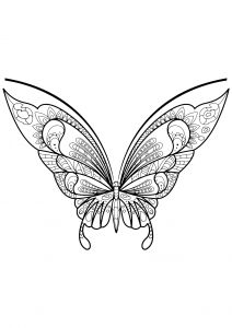 This adult coloring book with beautiful butterfly pictures to color is very easy to use. Multiple color palettes and a personal gallery of your own works, along with calming, relaxing background music, make this anti stress coloring book for adults a. Free Printable Coloring Pages, Coloring For Kids, Coloring Pages For Kids, Coloring Books, Butterfly Pictures To Color, Beautiful Butterfly Pictures, Insect Coloring Pages, Butterfly Coloring Page, Mandala Coloring