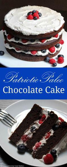 Patriotic Paleo Chocolate Cake | Only Taste Matters
