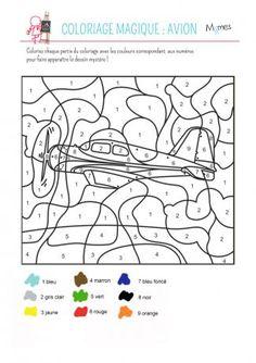 Coloriage Magique Avion De Chasse.103 Belles Images De Coloriage Magique Paint By Number Color By