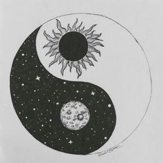 The yin yang is a perfect example of balance because the rounded part of the black side matches up with the pointed part of the white side and vice versa. The meaning of yin yang also shows balance. Yin Yang Tattoos, Tatuajes Yin Yang, Tribal Tattoos, Tatoos, Hipster Tattoo, Yen Yang, Ying Y Yang, Yin Yang Art, Yin And Yang
