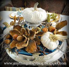 Anythingology Thanksgiving center piece