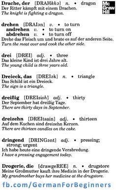 German For Beginners: 41 German Grammar, German Words, Learn German, Learn English, Language Dictionary, German Language Learning, Improve Your English, Good Communication, Idioms
