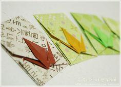 명절 선물포장에 유용한 종이접기..학봉투 접기~선물 속에 편지도 함께.. : 네이버 블로그