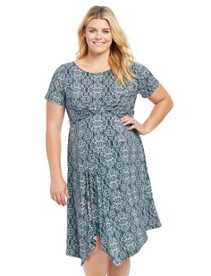 Motherhood Plus Size Uneven Hem Maternity Dress -- Trust me, this is great! Click the image. : Plus size maternity