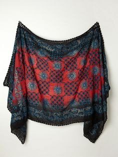 Free People Embroidered Dahlia Scarf, $60.00