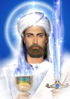ascended master El Morya to assist with energy and psychic protection. Love and Light Saint Germain, Tomas Moro, Mantra, Rose Croix, Pictures Of Jesus Christ, Ascended Masters, Doreen Virtue, Lord, Visionary Art