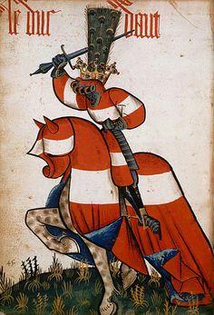 Le duc d'Autriche, Grand Armorial équestre de la Toison d'Or, Flandres, 1430-1461.