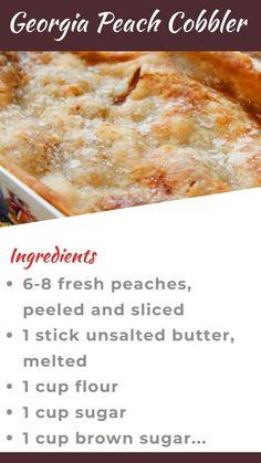 Fruit Recipes, Desert Recipes, Baking Recipes, Cake Recipes, Fruit Cobbler, Peach Cobbler Recipes, Recipes With Peaches, Peach Cobbler Cake, Gourmet