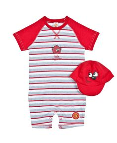 7ce39f1a4 Manchester United Baby Striped Romper and Hat Set. 0-18m £17.99. A