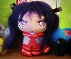Kagami-Lucky star-Cork Doll on Etsy, £4.50