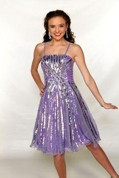 Designer Dresses | Dresses | Straight neckline panel dress with full circle skirt | Gail McInnis Productions