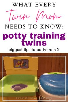 If you have toddler twins, this is for you! Make potty training twins easier and get through that milestone with more enjoyment thanks to these tips! Get your girl twins, boy twins, or boy girl twins potty trained in no time. How to potty train twins and the best way to keep your sense of humor. #pottytraining #pottytrainingtwins #twins #toddler #pottytrain #3daypottytraining Team-Cartwright.com