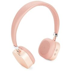 Merkury Innovations Women's Metallic Wireless Headphones ($30) ❤ liked on Polyvore featuring accessories, tech accessories, no color, metallic headphones and merkury headphones