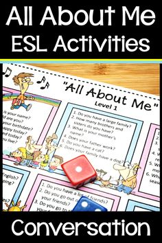 Middle School, Back To School, All About Me Worksheet, Science Online, Conversation Cards, Esl Resources, Esl Lessons, Getting To Know You, High School Students