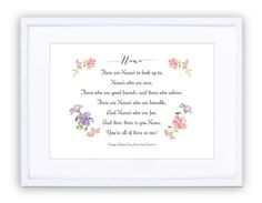Nana Sweetpea Personalised Prints, New Beginnings, Framed Prints, In This Moment, Day