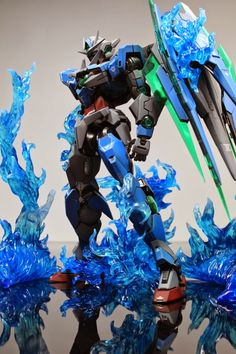 Custom Build: MG 1/100 00 Qan [T] with Special Flame Effects - Gundam Kits Collection News and Reviews