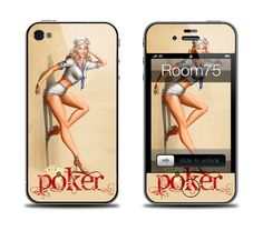 Pinup Poker Lady Luck Iphone 4/4s/5 Galaxy S3 Skin and by Room75, $8.99