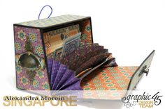 Midnight Masquerade Photo Storage Box Tutorial by Alexandra Morein Product by Graphic 45 Photo 6 Graphic 45, Altered Boxes, Altered Art, Alternative Art, Photo Storage, Class Projects, Custom Boxes, Shadow Box, Art Tutorials