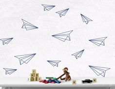 Airplane wall decal - Graham's Room