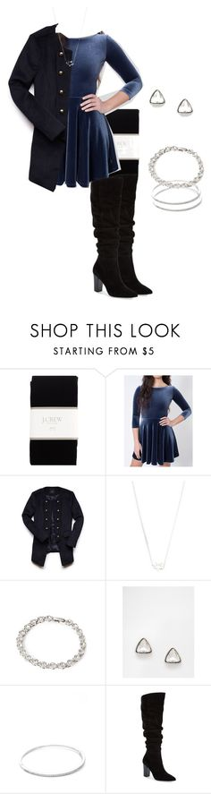 """Allison Argent Party Outfit"" by zoetozier ❤ liked on Polyvore featuring J.Crew, Forever 21, Karen Walker, DesignSix, Samantha Wills, Treasure & Bond, men's fashion and menswear"