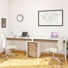 Nexera 400610 Liber-T 2-Person Desk