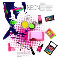 """neon makeup"" by gabrielleleroy ❤ liked on Polyvore featuring beauty, NYX, Smashbox, Obsessive Compulsive Cosmetics, Surratt, beautyblender, Forever 21, Bobbi Brown Cosmetics, 100% Pure and Urban Decay"