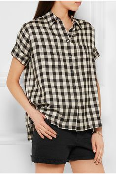 Madewell | Courier checked twill shirt | NET-A-PORTER.COM