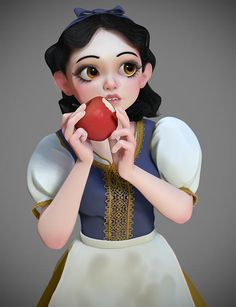 Snow White by Steve James for @Sketch_Dailies