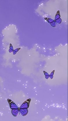 Purple Butterfly Wallpaper, Purple Wallpaper Iphone, Cartoon Wallpaper Iphone, Iphone Background Wallpaper, Disney Wallpaper, Retro Wallpaper, Black And Purple Wallpaper, Pink Glitter Wallpaper, Kawaii Wallpaper