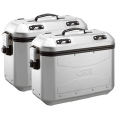 Givi Trekker Dolomiti Aluminum Side Cases (Set of Givi Dolomiti cases are aesthetic refinements of the tank-like Givi Trekker Outback series of hard cases. These feature similar aluminum construction but the rounded corners and centra Atv Accessories, Motorcycle Accessories, Nissan Leaf, 242, Home Repair, Retro, Ebay, Things To Sell, Motorcycle Luggage Bags