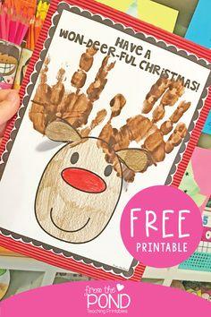 Won-Deerful Reindeer Gift Art Project Christmas Activities, Christmas Projects, Christmas Themes, Holiday Crafts, Classroom Crafts, Preschool Crafts, Classroom Activities, Physics Classroom, Preschool Ideas