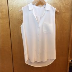Equipment Silk Blouse Equipment: One Pocket, button up, silk blouse Equipment Tops Blouses