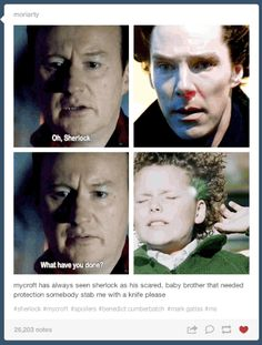 The way Mycroft has always seen Sherlock.