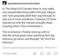 "my theory is that they are actually demigods. it also supports Miguel ""flying"" at the end"