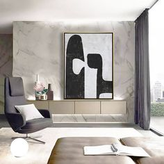 Oversized Abstract Painting Original Art Large Painting on image 4 Original Art, Original Paintings, Minimalist Painting, Wooden Bar, Black And White Abstract, Large Painting, Getting Things Done, Modern Art, Oriental