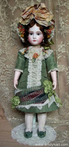 Halopeau Bebe dressed in Vintage silks and Antique laces doll by Emily Hart