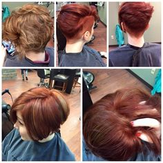 A Little Louise Brookw without the bangs #ginger #bob #undercut #aveda #moriahvineyard