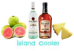 Island Cooler #Drink #Recipe Ingredients: ½ ounce white rum 3 ounces ...