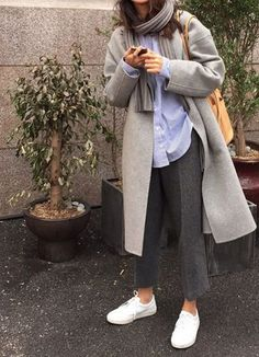 Herbst-Winter-Trends - Alles pin - all - Winter Mode Winter Trends, Noora Style, Moda Fashion, Womens Fashion, Look Girl, Autumn Fashion 2018, Minimal Fashion, Minimal Outfit, Grey Fashion