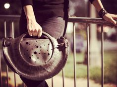 Scooter bag  Handmade from a repurposed scooter tire ...