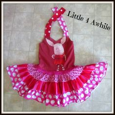 Tiered Twirl Skirt Upcycle Dress by Little 4 Awhile  www.facebook.com/little4awhile