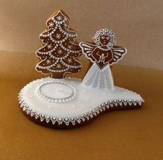 Christmas Gingerbread House, Christmas Clay, Christmas Angels, Gingerbread Cookies, Christmas Time, Angel Cookies, Holiday Cookies, Merry Christmas Everybody, Cupcake Pictures