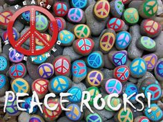 ☮ American Hippie Art Quotes ~ Peace Rocks!